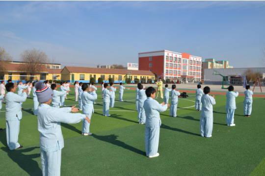 日照市莒县果庄中心小学成立学校太极拳社团